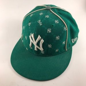 New York Yankees Green New Era Fitted Wool Cap